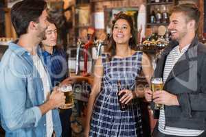 Friends enjoying together in pub