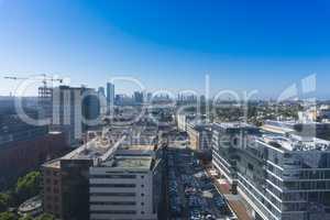 Ramat HaYal, ISRAEL - DECEMBER 9, 2017: Panoramic view of Ramat HaChayal district, Tel Aviv-Yafo, Israel