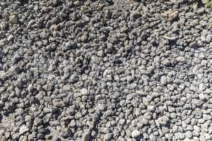 Background of small gray lava stones