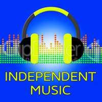 Independent Music Shows Sound Tracks 3d Illustration