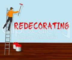 Home Redecorating Shows House Painting 3d Illustration