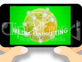 Media Marketing Representing News Tv 3d Illustration