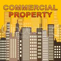 Commercial Property Means Offices Real Estate 3d Illustration