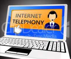 Internet Telephony Shows Voice Broadband 3d Illustration