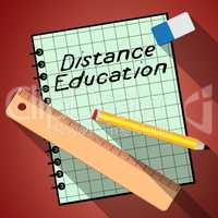 Distance Education Represents Correspondence Course 3d Illustrat