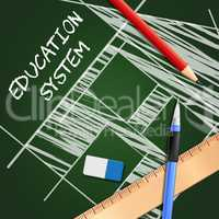 Education System Means Schooling Organization 3d Illustration