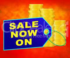 Sale Now On Message Internet Discounts 3d Illustration