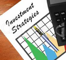 Investment Strategies Meaning Investing Dollars 3d Illustration