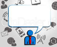 Speech Bubble Means Blank Message 3d Illustration