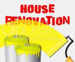 House Renovation Displays Home Improvement 3d Illustration