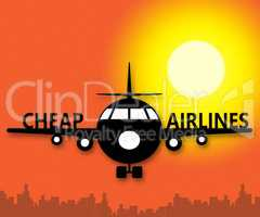 Cheap Airlines Means Special Offer Flights 3d Illustration