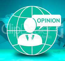 Opinion Icon Shows Feedback Evaluation 3d Illustration
