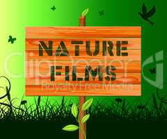 Nature Films Means Environment Movies 3d Illustration