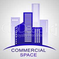 Commercial Space Describing Real Estate Buildings 3d Illustratio