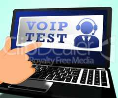 Voip Test Shows Internet Voice 3d Illustration