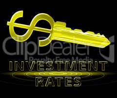 Investment Rates Shows Trade Investing 3d Illustration