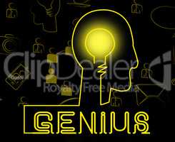 Genius Brain Means Specialist Solve And Guru