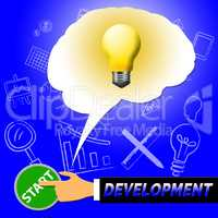 Development Light Means Growth Progress 3d Illustration
