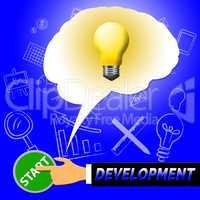 Development Light Means Growth Progress 3d Illustration