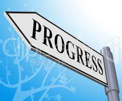 Progress Sign Representing Improvement Growth 3d Illustration