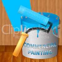 Commercial Painting Means Business Painter 3d Illustration