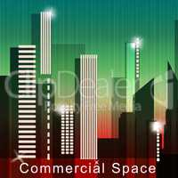 Commercial Space Means Real Estate Sale 3d Illustration