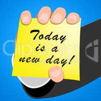 Today Is A New Day Joy 3d Illustration