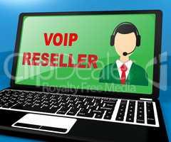 Voip Reseller Shows Internet Voice 3d Illustration