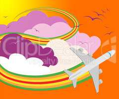 Travel Sites Means Online Vacations 3d Illustration