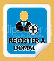 Register A Domain Indicating Sign Up 3d Illustration