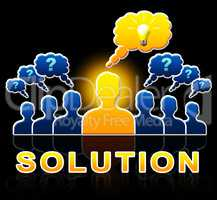 Solution People Represent Successful And Resolution 3d Illustrat