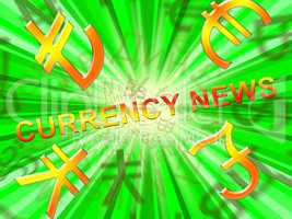 Currency News Means Forex media 3d Illustration