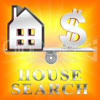 House Search Meaning Housing Finder 3d Rendering