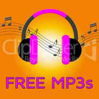 Free Mp3s Denotes Download Soundtracks 3d Illustration