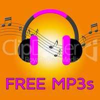 Free Mp3s Denotes Download Soundtracks 3d Illustration