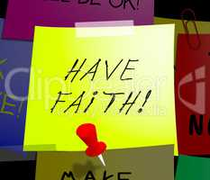 Have Faith Displays Believe In Yourself 3d Illustration