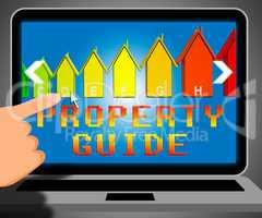 Property Guide Representing Real Estate 3d Illustration