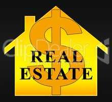 Real Estate Home Indicating Property 3d Illustration
