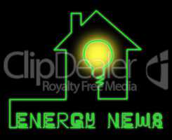 Energy News Shows Electric Power 3d Illustration