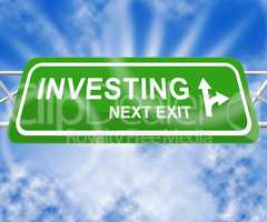 Investing Sign Indicating Return On Investment 3d Illustration