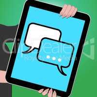 Voip Tablet Shows Internet Voice 3d Illustration