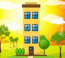 Apartment Building Means Condo Property 3d Illustration