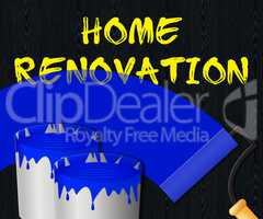 Home Renovation Displays House Improvement 3d Illustration