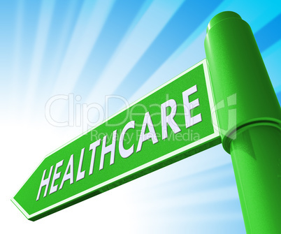Healthcare Sign Meaning Medical Wellbeing 3d Illustration