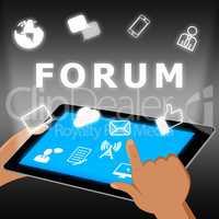 Forum Icons Represents Social Media 3d Illustration