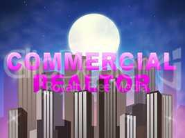 Commercial Realtor Means Real Estate Sales 3d Illustration