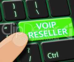Voip Reseller Key Shows Internet Voice 3d Illustration
