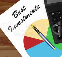 Best Investments Shows Trade Investing 3d Illustration