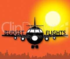 Budget Flights Means Special Offer 3d Illustration