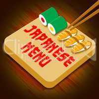 Japanese Menu Meaning Japan Cuisine 3d Illustration